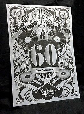 CRAZY!! 99 CENT - NO RESERVE #AUCTION!!    Available on Ebay  HERE --->>> http://ebay.to/2oUO1HX    #RARE! 2016 Walt #Disney #Records 🎶 60th #Anniversary 11x14 #Art 🎨#Poster #Ebay 💗💗💗