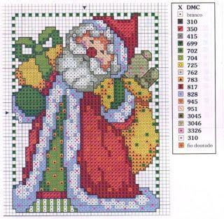 Ponto cruz: Natal Gráficos Ponto Cruz.