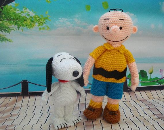 Amigurumi Schemi Free Italiano : Amigurumi Snoopy and Charlie Brown by BoutiqueCarnival on ...