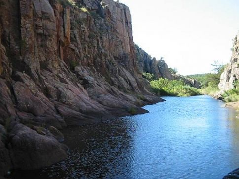 Forty-Foot Hole is one of the Wichita Mountains most popular hiking destinations. Cache Creek flows through this small gorge creating waterfalls and cascades.