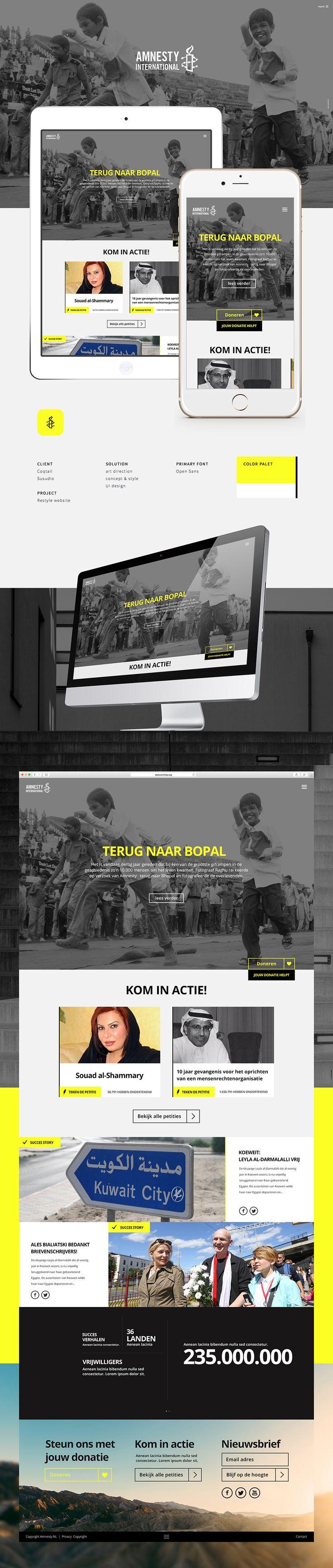 Amnesty International | Responsive Website Concept • by Merqwaardig.com