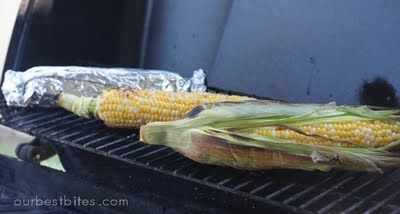 Grilled Corn On The Cob.  Didn't know there was a method other than just putting in on the grill....now I know!