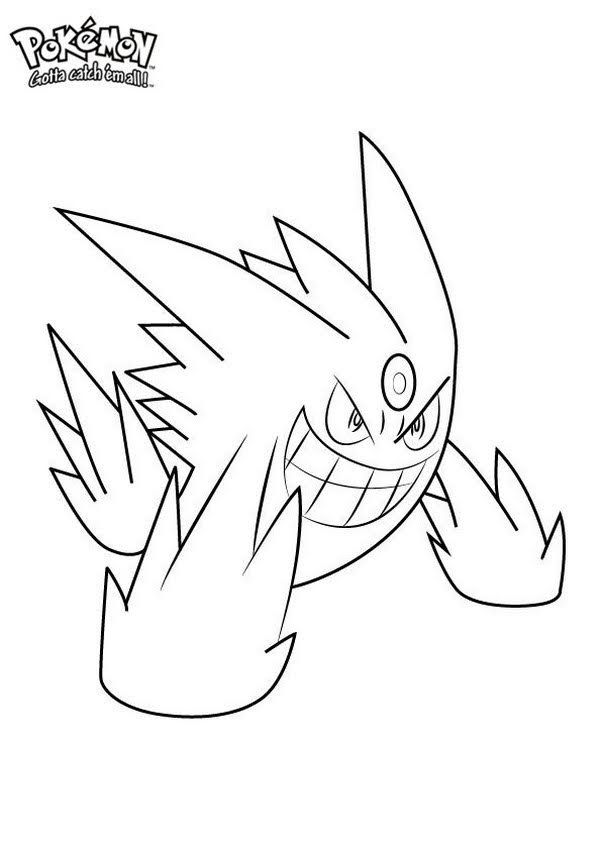 Free Printable Mega Gengar Coloring Pages Pokemon Coloring Pages Pokemon Coloring Cartoon Coloring Pages