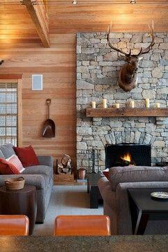 Contemporary cabin style in Pennsylvania #dreamhouseoftheday