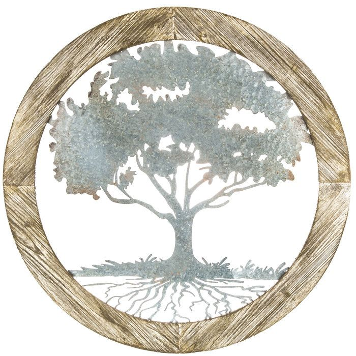 Round Wood And Metal Tree Wall Decor 2340 Best Metal Tree Wall Art Ideas Images On Pinterest  Metal