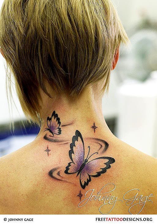 Top 25 ideas about tribal butterfly tattoo on pinterest for Cursive neck tattoos