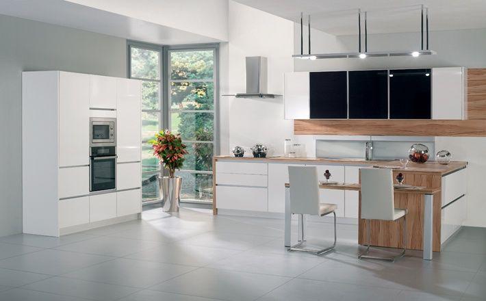 Salle De Bain Carrelage Parquet :  cuisine black white # kitchendesign gorenje dans une cuisine black