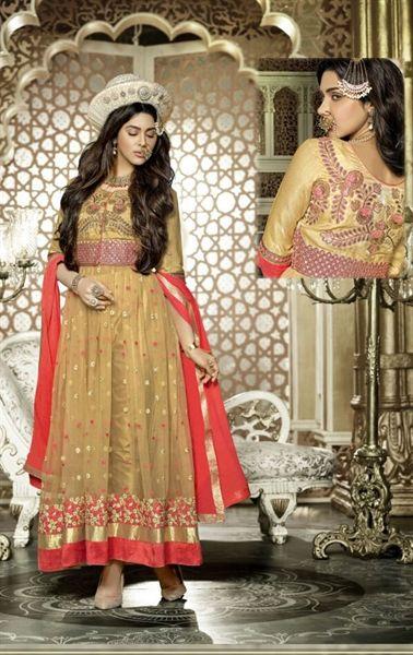 Picture of Luscious Dark Cream Designer Salwar Kameez