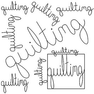 free motion quilting tutorial - writing. I watched her video. It's very educational!