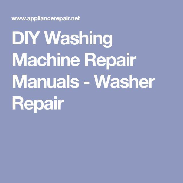 wash machine repair manual