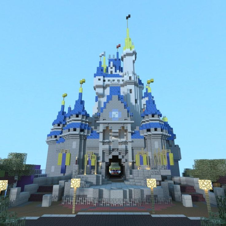 minecraft disney castle Wonder if I can get Adam to build for me