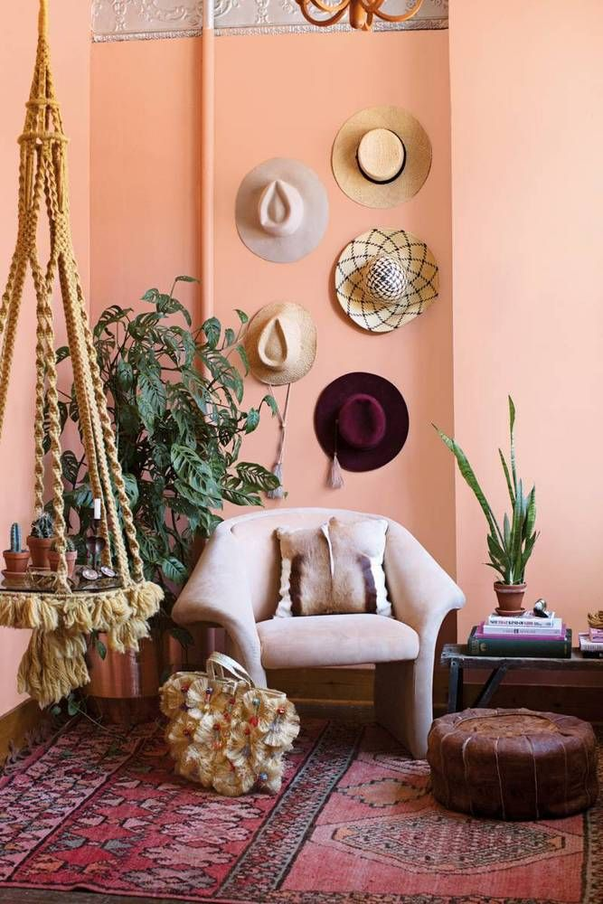 A Soleful Space Meet Fall Cover Star Aurora James Bohemian Living Spaces Peach