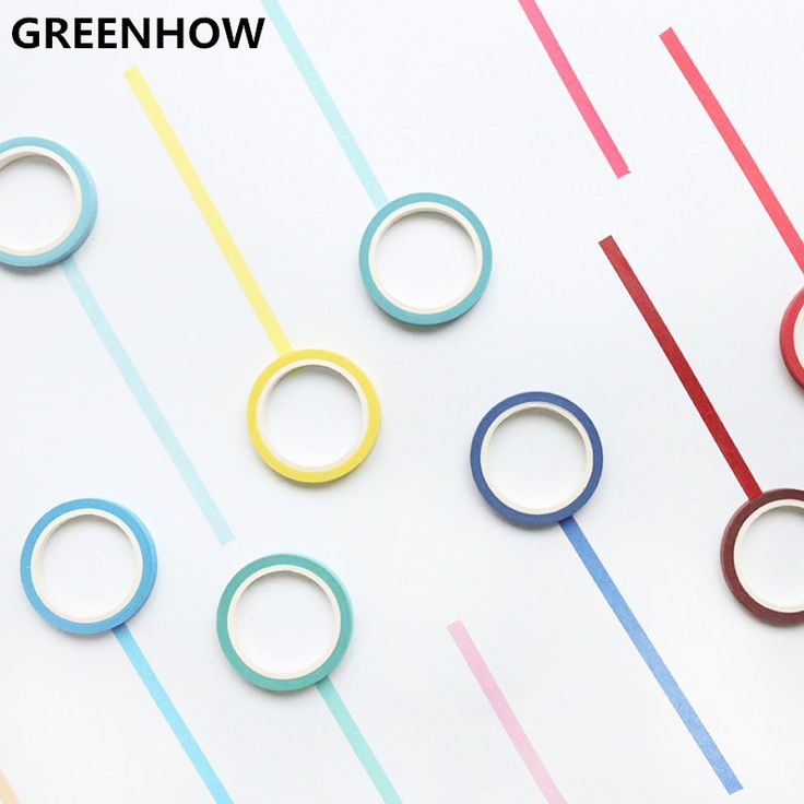 Cheap washi tape, Buy Quality paper tape directly from China tape adhesive Suppliers: GREENHOW Rainbow Solid Color Japanese Masking Washi Sticky Paper Tape Adhesive Printing DIY Scrapbooking Deco Washi Tape  4008