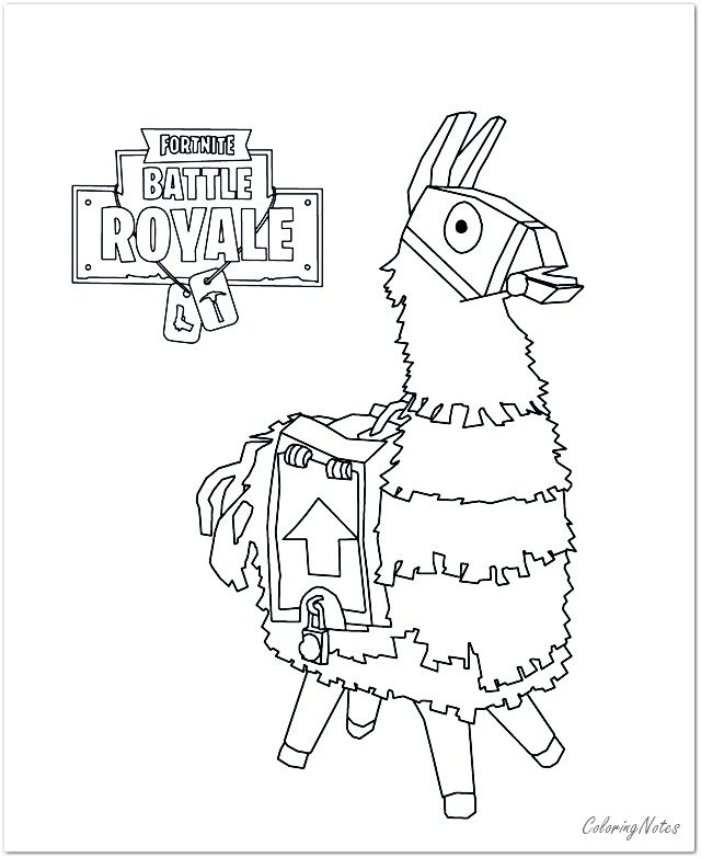 fortnite character coloring pages llama in   coloring