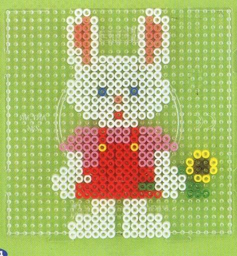 Easter bunny - hama perler beads