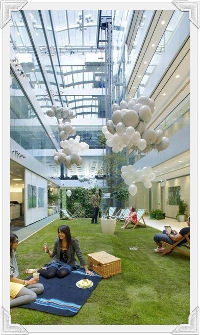 CORPORATE HEADQUARTERS: HOK London Headquarters, #LEED Gold, London, England designed by @Jennifer Milsaps L Milsaps L Kraemer Network