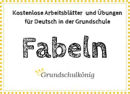 Kostenlose Übungen und Aufgaben zum Thema Fabeln für Deutsch in der Grundschule #grundschulkönig #textarbeit
