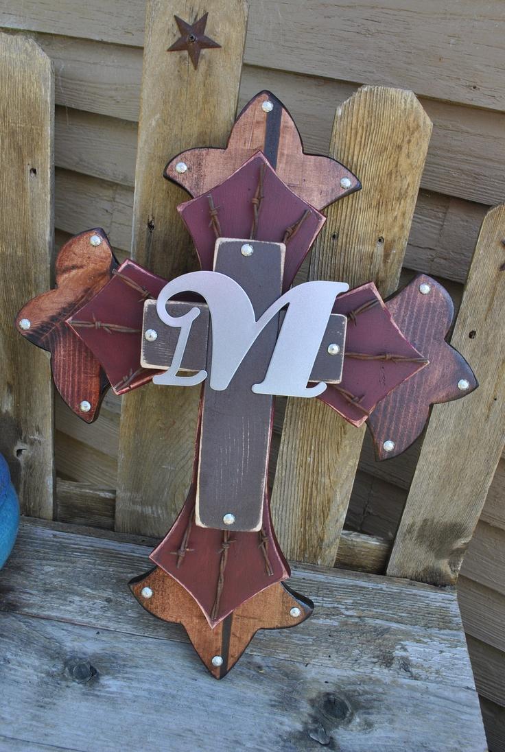 Besides cross clip art wall decor decorative wood cross decorative - My M Initial Western Wooden Wall Cross