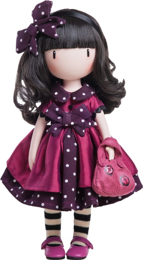 LADYBIRD - Santoro Gorjuss Doll made of vinyl and 32cm tall with distinctive inwards turned toes and delicate hands just like the artwork - from www.mydollbestfriend.co.uk