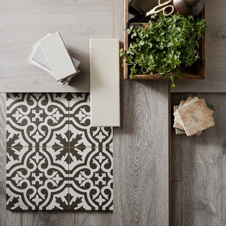 Traditional Style Kitchen Design With A Modern Twist: Mix Traditional Tiles With Contemporary Woods And
