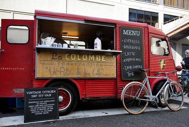LaColombe's beautiful Citroen Hy-Van coffee van. Cute!