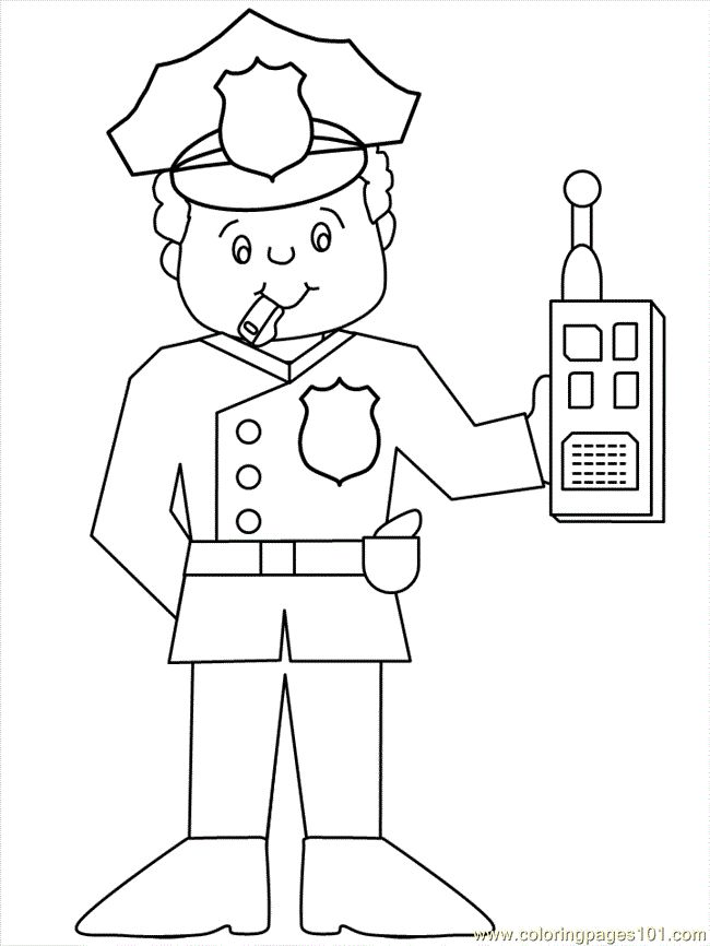 police officer printables | free printable coloring page ...