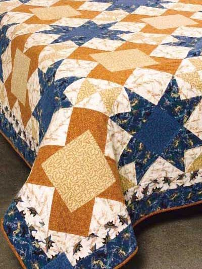 Earth and Sky Bed Quilt from Free-quilting.com (requires sign in to download free pattern)