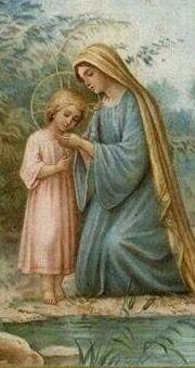 MARÍA PASEANDO CON SU NIÑO JESÚS