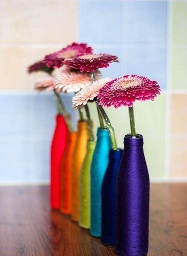 Cómo hacer floreros a partir de botellas de refrescos  #diy #decoracion #manualidades