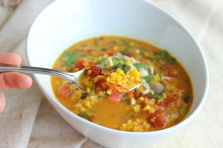 Lentil Masala Soup Recipe: I always try to go a day without eating meat as eliminating meat from your day allows you to opt for other sources of proteins. There are plenty of options like eggs, cheese, yogurt, seeds, tempeh, legumes and lentils. Lentils and legumes are a good source of protein and an excellent source of fiber! Fiber helps us stay full for longer periods of time and maintains a healthy digestive tract by moving things along thus keeping you regular.
