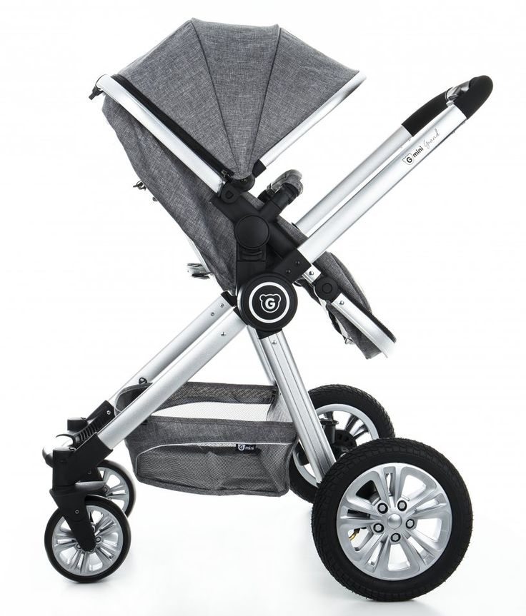 GMINI Kočár kombinovaný Grand stříbrná   Kašpárek Baby