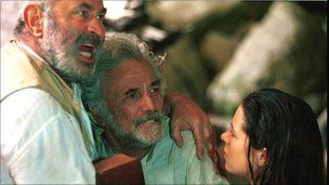lost world 2001 bbc | Bob Hoskins, Peter Falk and Elaine Cassidy in the Lost World