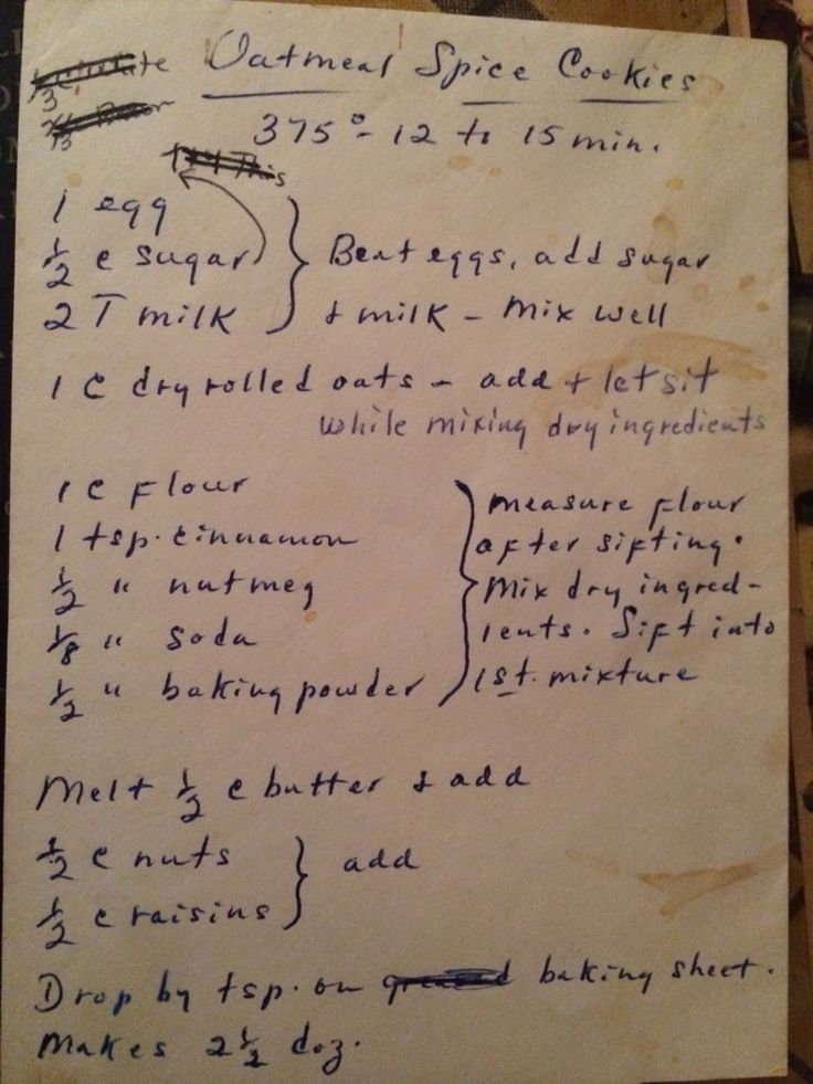 100 yr old cookie recipe.