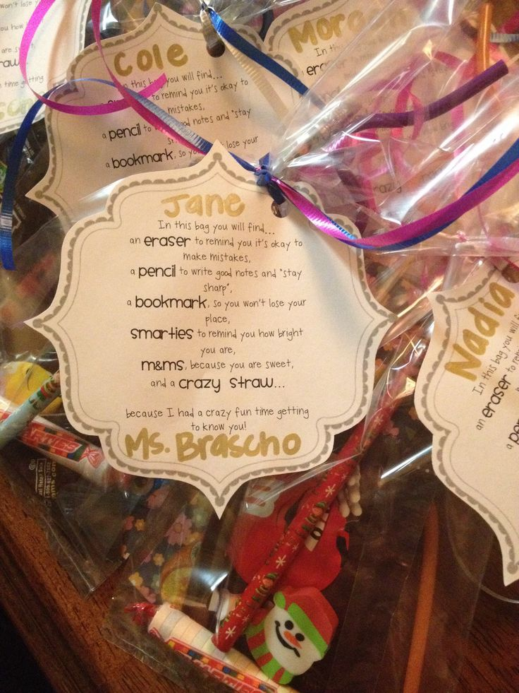 These are the goodie bags that I made for the third grade students that I taught…