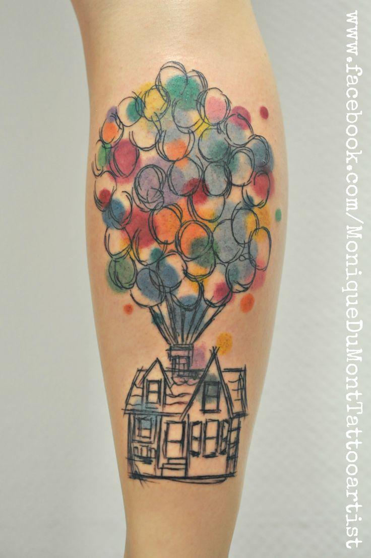 disney tattoo scribble tattoo up tattoo watercolor tattoo