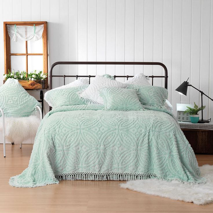 Good Kick Up Your Feet And Relax With This Super Soft Cotton Chenille Bedspread  Set By Bianca