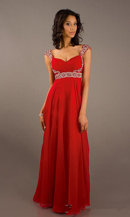 Long Red Sparkly Straps Prom Dresses Click Image To Close