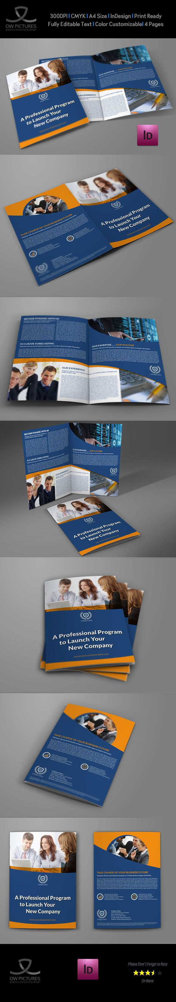 Mejores 85 imágenes de Bi-Fold Brochure en Pinterest   Plantilla de ...