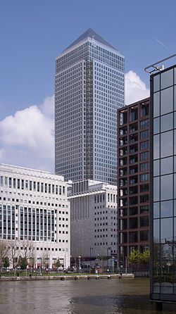 One Canada Square, 2nd tallest building in London