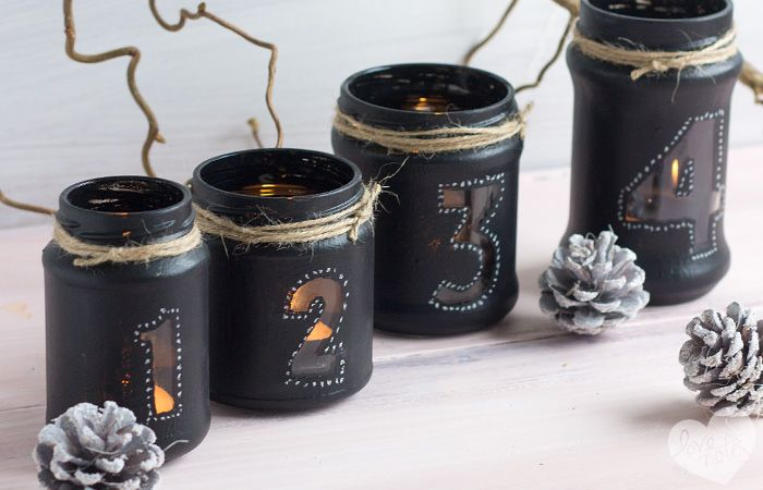 altglas tafelmalfarbe adventskranz diy bastel ideen. Black Bedroom Furniture Sets. Home Design Ideas