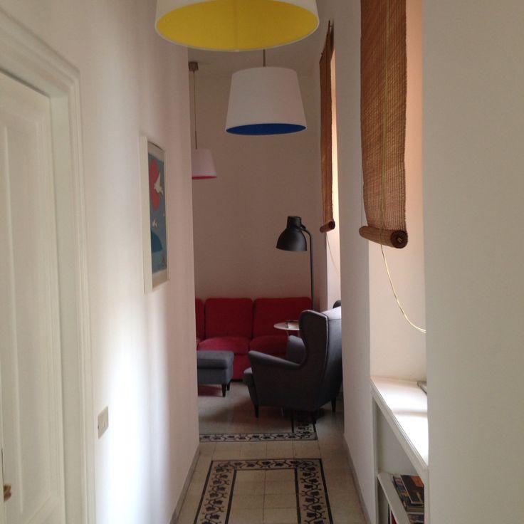 Hallaway to living room.