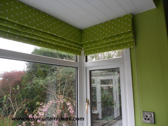 Roman shades that look like a valance cornice when raised for Roman shades for bay window