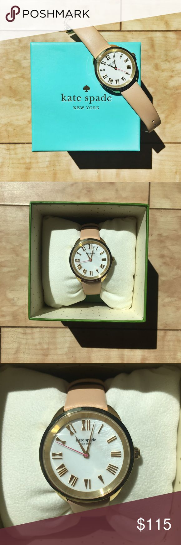 Unique Kate Spade Light Pink Watch Gorgeous watch by Kate Spade Gold accents with
