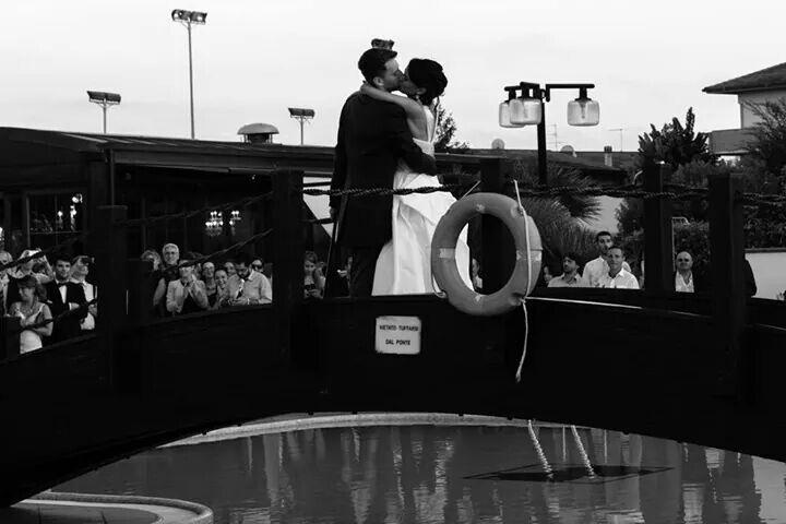 Bridge romance wedding black and white love sweet bride groom
