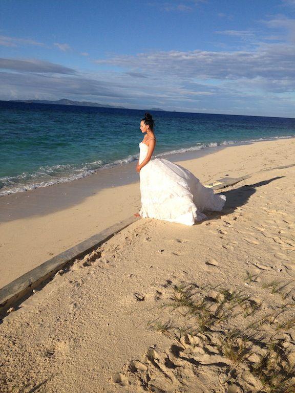 Beautiful Bride on the beach at Treasure Island...
