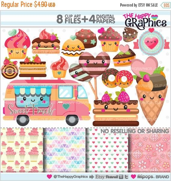 80%OFF - BIG SALE Sweets Clipart, Sweets Graphics, Commercial Use, Kawaii Clipart, Planner Accessories, Sweets Party, Bakery, Food, Cake, De