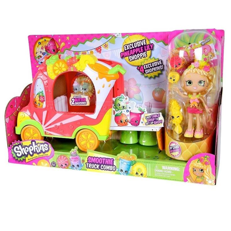 Shopkins Groovy Smoothie Juice Truck with Pineapple Lily Shoppies Doll #Hasbro