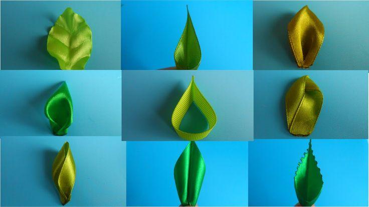 Лучшие Листочки для Цветов из Лент . МК / Top 8 leaves flower ribbons