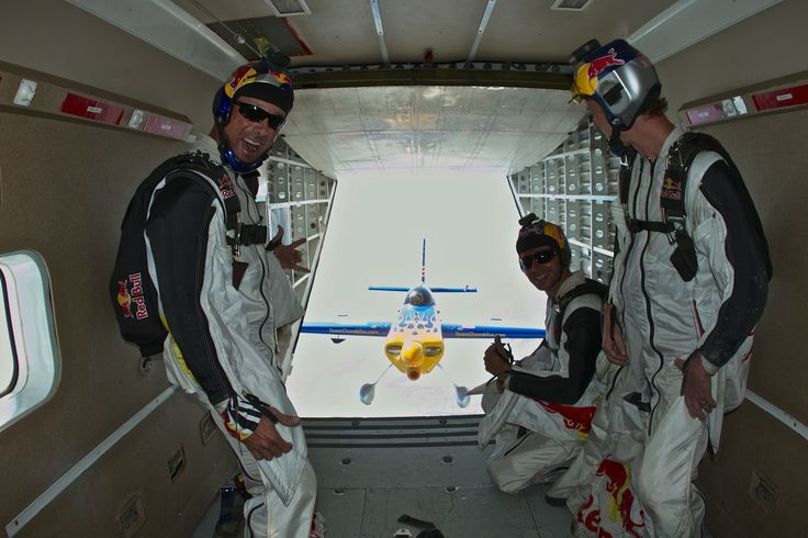 Red Bull Air Force in the Skyvan with Kirby Chambliss in hot pursuit via Team Chambliss