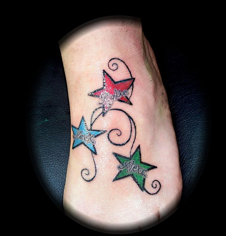 27 best star tattoos with names images on pinterest